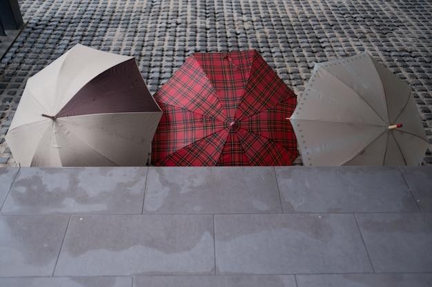 Umbrella on ground Premium Photo