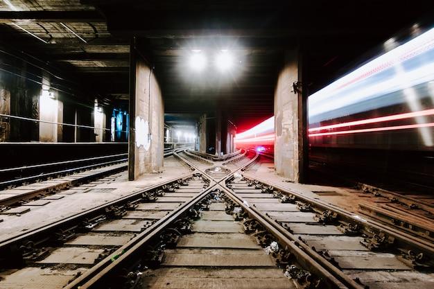 Underground tunnel and railways Free Photo