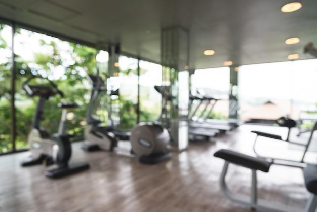 Unfocused gym with big windows photo free download