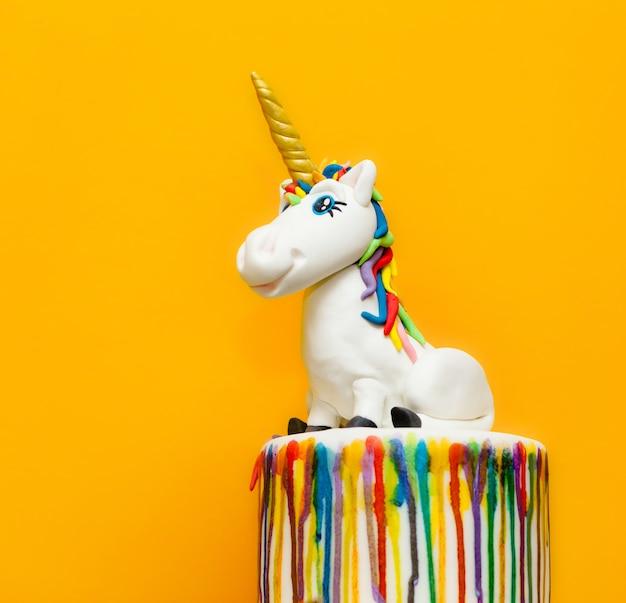 Unicorn cake topper Premium Photo