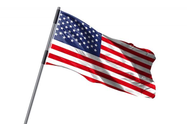 United states of america usa flag waving against white