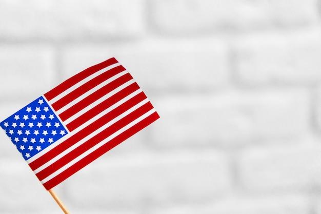 United states of american flag isolated on white background Premium Photo