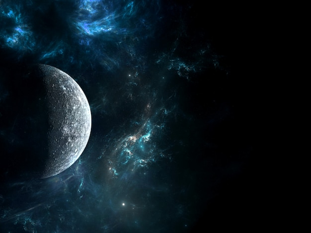 Universe all existing matter and space considered as a whole the cosmos.  scene with planets, stars and galaxies in outer space showing the beauty of space exploration. Premium Photo