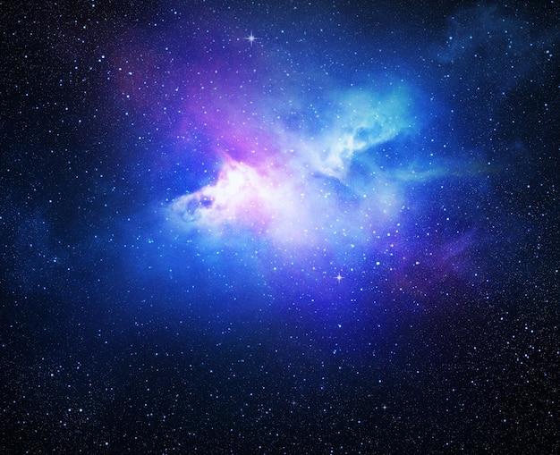 별, 성운, 은하로 가득 찬 우주 프리미엄 사진