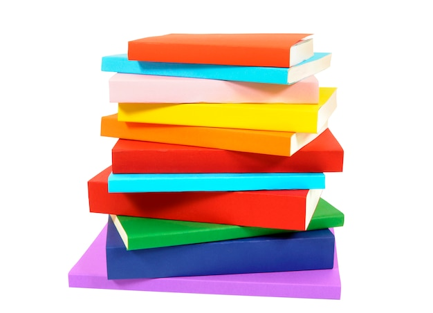 Untidy stack of books Free Photo