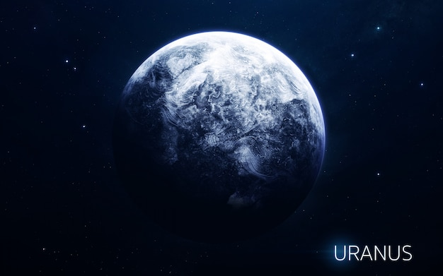 Uranus - planets of the solar system in high quality. science wallpaper. Premium Photo