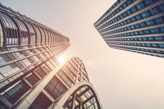 Urban architecture office of building business district Premium Photo