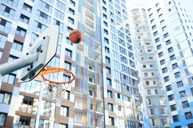 Городской баскетбол фон Premium Фотографии