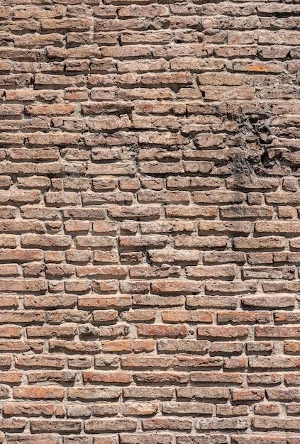도시 갈색 벽돌 벽 프리미엄 사진
