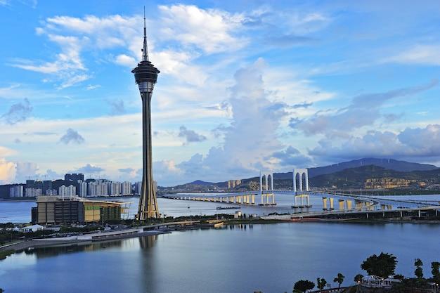 Urban landscape of macau Premium Photo