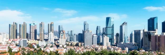 Urban skyline of qingdao Premium Photo