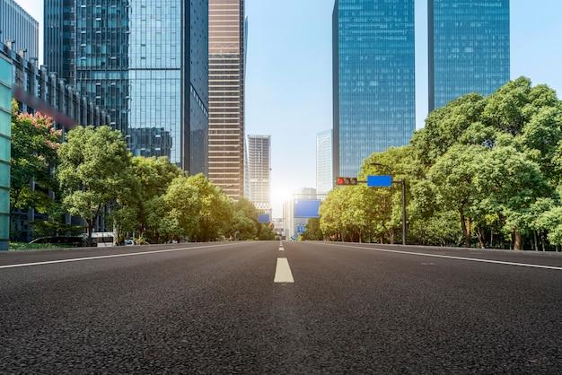 Urban streets and modern architecture Premium Photo