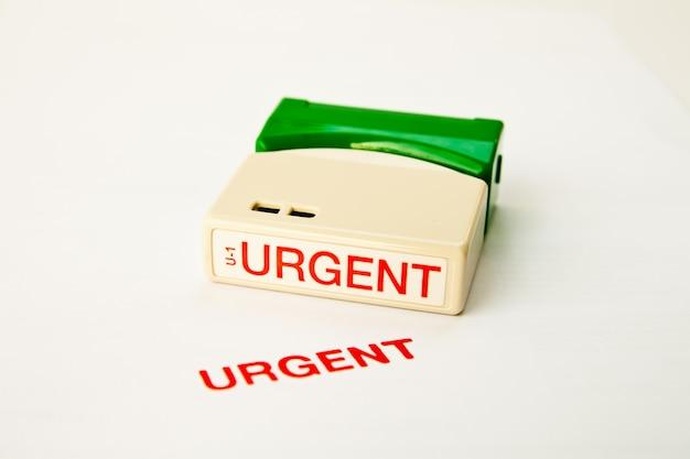 Urgent stamp Premium Photo