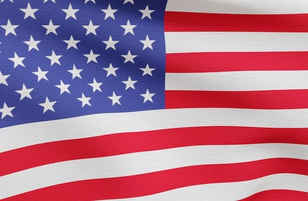 Концепция выборов сша с флагом америки Premium Фотографии