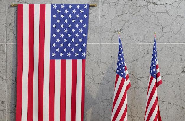 アメリカの国旗と米国の選挙の概念 無料写真