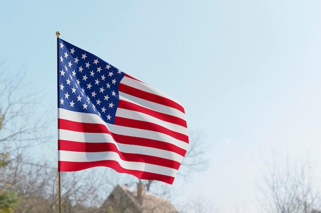 アメリカの国旗と米国の選挙の概念 Premium写真