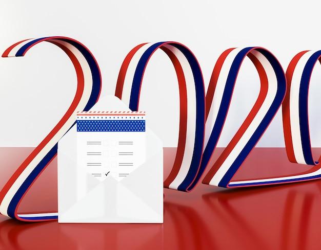 アメリカの国旗と私たちの選挙の概念 無料写真