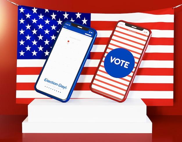 コピースペースで私たちの選挙の概念 無料写真