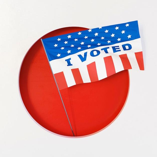 Концепция выборов сша с копией пространства Premium Фотографии