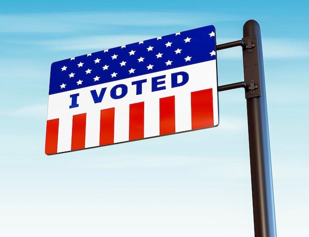 Concetto di elezioni degli stati uniti con lo spazio della copia Foto Gratuite