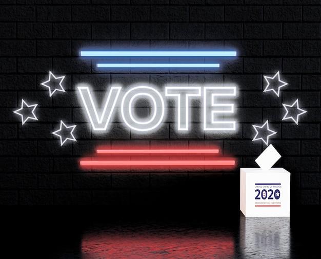 Концепция голосования сша выборы с флагом Premium Фотографии