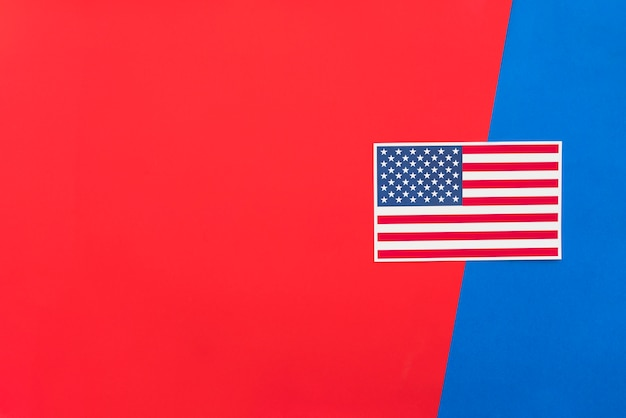 Us flag on bright multicolored surface Free Photo