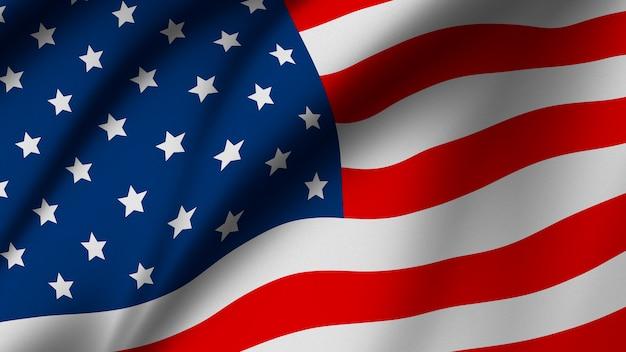 Usa or american flag background Premium Photo