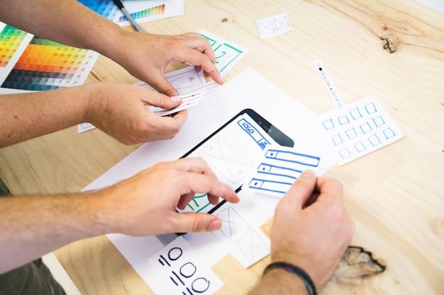 Ux design working Premium Photo