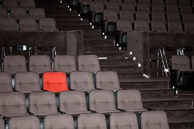 Vacant seats of a theater Premium Photo