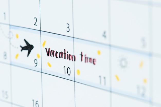 Vacation calendar reminder Free Photo