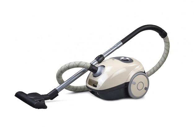 Vacuum cleaner isolated on the white Premium Photo