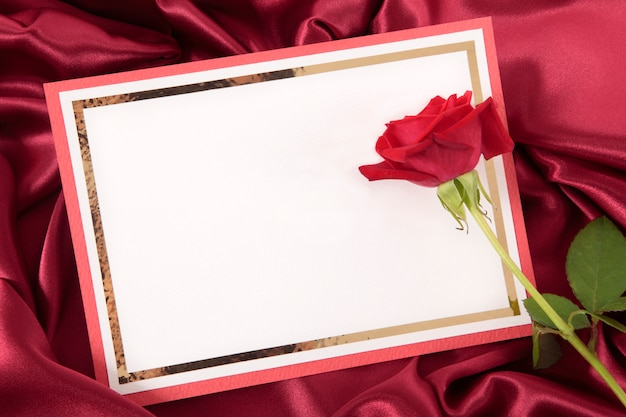 Valentine card with a rose Free Photo