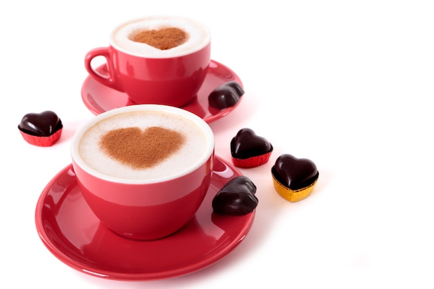 Valentine Coffee Premium Photo