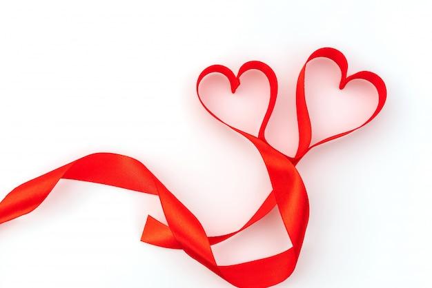 Valentine Heart Red Silk Ribbon Love Symbol Photo Free Download