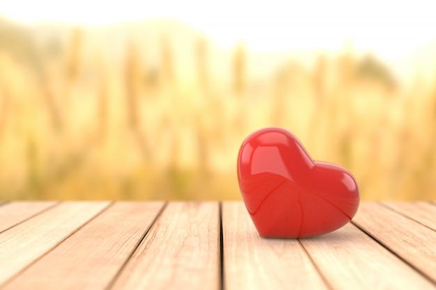 Valentine's day background. 3d rendering. Premium Photo