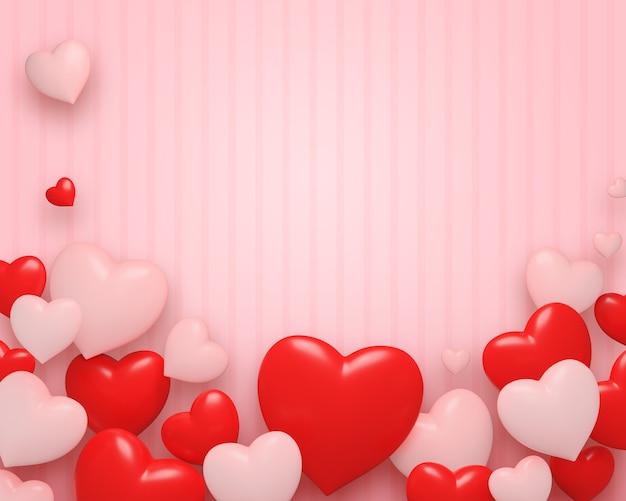 Valentine's day background  ¡frame Premium Photo