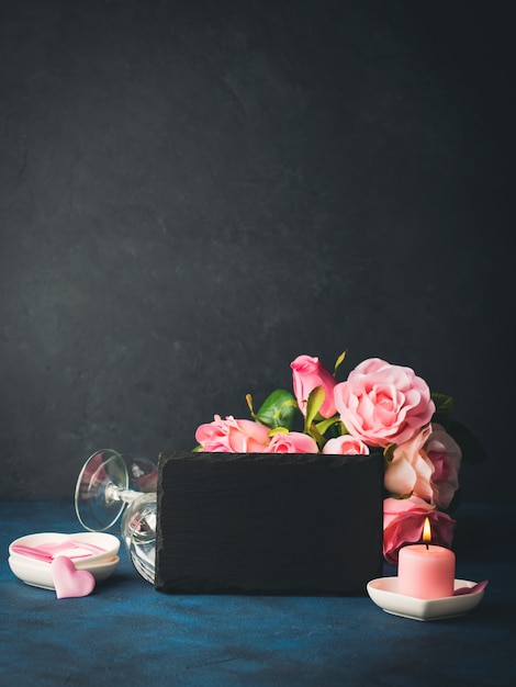 Valentine's day concept and greeting card Premium Photo