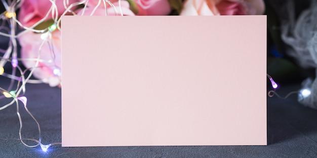 Valentine's day greeting card invitation Premium Photo