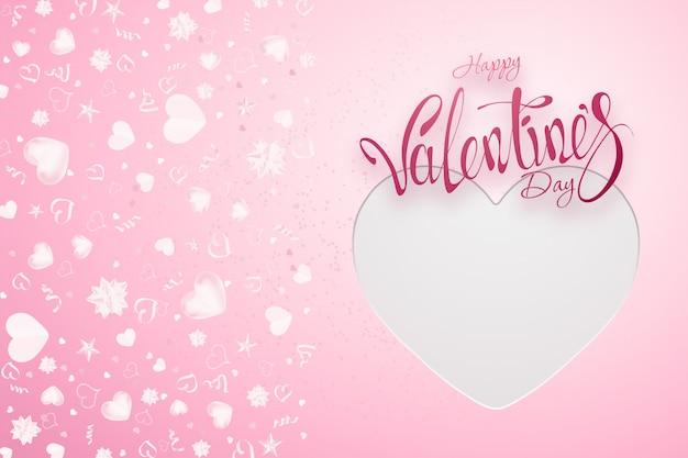 Valentine's day on pink Premium Photo