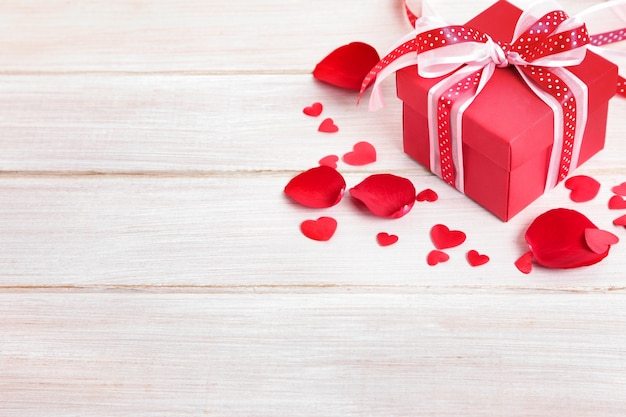 Valentine's gift on white wood Free Photo