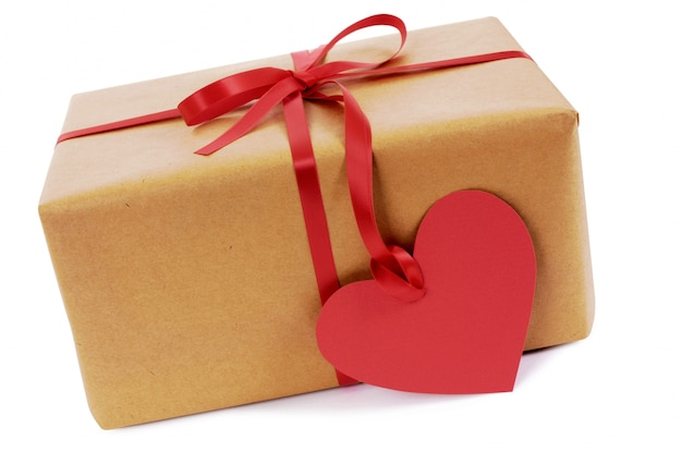Valentine's gift with a heart tag Free Photo