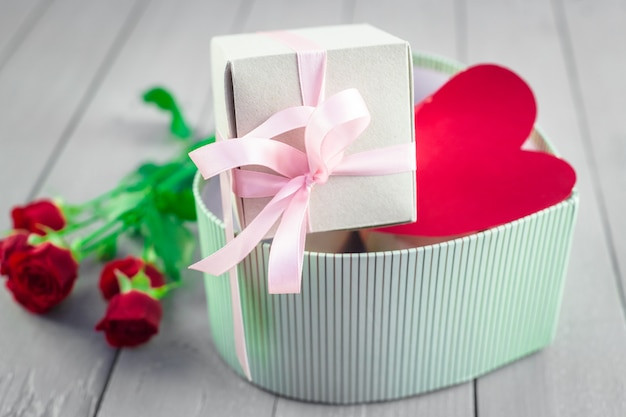 Valentines day box Premium Photo