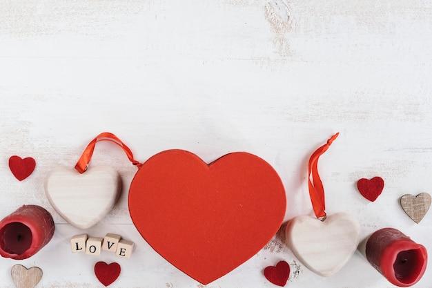 コピースペース付きバレンタインデーギフト 無料写真