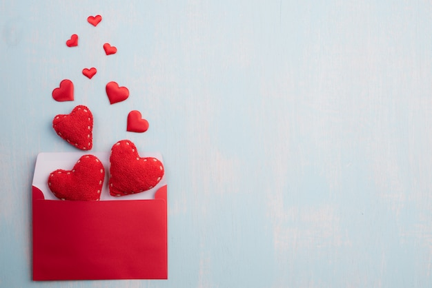Valentines day and love concept background. Premium Photo