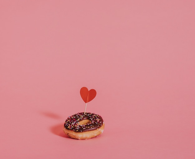 Valentines day surprise donut Free Photo