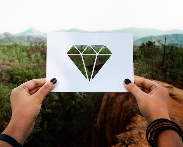 Valuables jewelry perforated paper diamond Free Photo