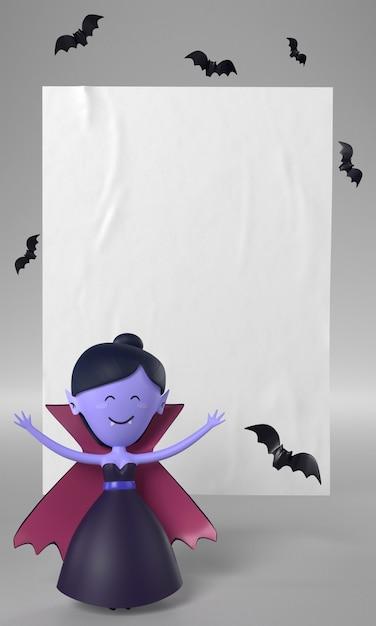 Bambola vampiro per halloween Foto Gratuite