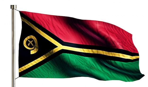 Vanuatu national flag isolated 3d white background | Free ...