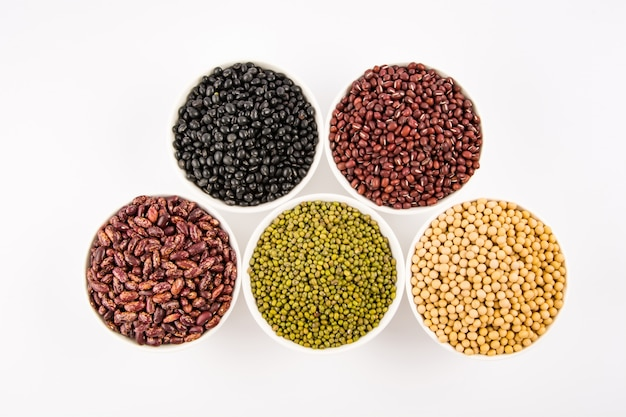 Variety of legumes on top view Free Photo