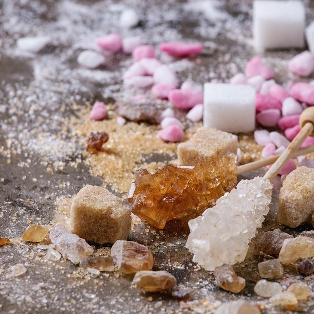 Разнообразие сахара Premium Фотографии